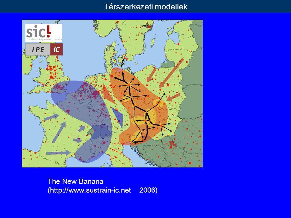 The New Banana (http://www.sustrain-ic.net 2006) Térszerkezeti modellek