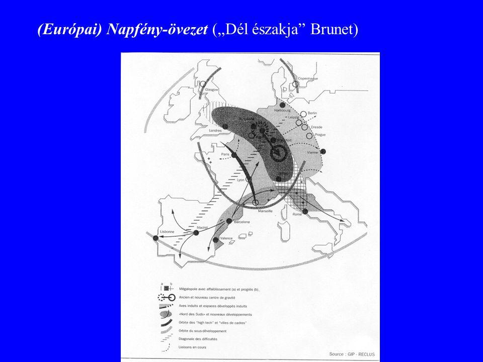 """(Európai) Napfény-övezet (""""Dél északja"""" Brunet)"""