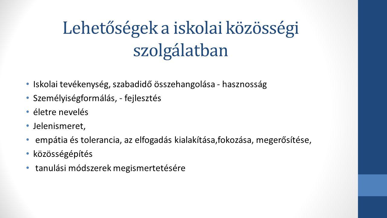 Az IKSZ gyakorlati megvalósulása 2013.