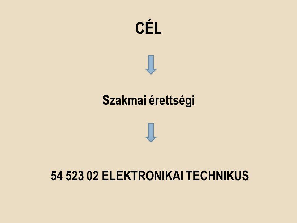 CÉL Szakmai érettségi 54 523 02 ELEKTRONIKAI TECHNIKUS