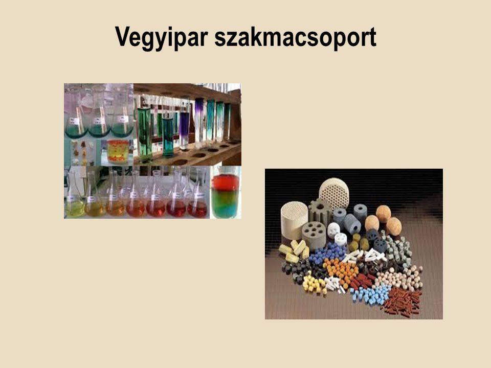 Amit tanulunk Vegyipari ismeretek Laboratóriumi gyakorlat Szakmai kémia Fizikai kémia Vegyipari technológia Műszeres analitika Gyógyszertechnológia …