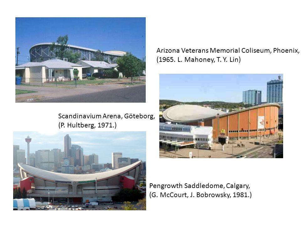 Arizona Veterans Memorial Coliseum, Phoenix, (1965. L. Mahoney, T. Y. Lin) Scandinavium Arena, Göteborg, (P. Hultberg, 1971.) Pengrowth Saddledome, Ca
