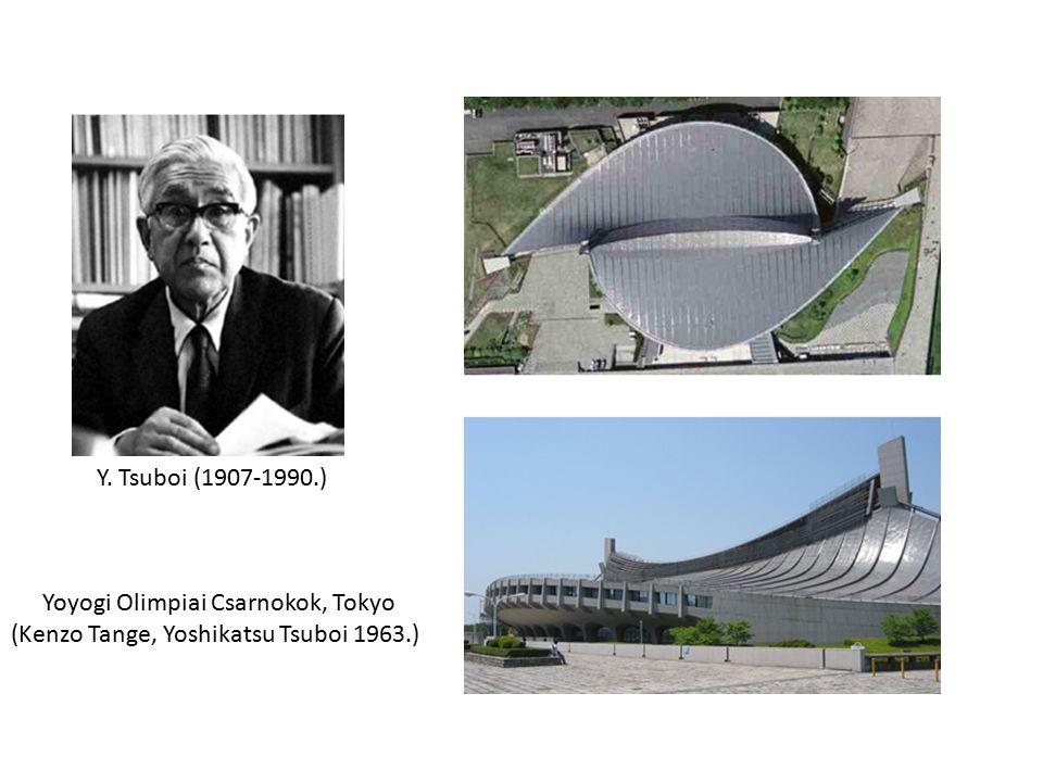 Y. Tsuboi (1907-1990.) Yoyogi Olimpiai Csarnokok, Tokyo (Kenzo Tange, Yoshikatsu Tsuboi 1963.)