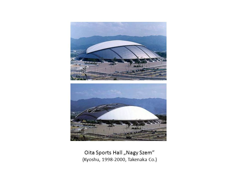 "Oita Sports Hall ""Nagy Szem"" (Kyoshu, 1998-2000, Takenaka Co.)"