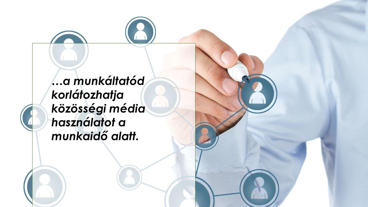 …a munkáltatód korlátozhatja közösségi média használatot a munkaidő alatt.