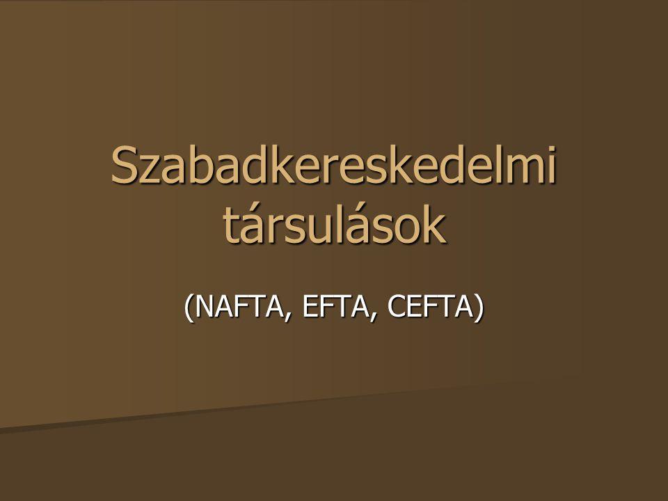 Szabadkereskedelmi társulások (NAFTA, EFTA, CEFTA)