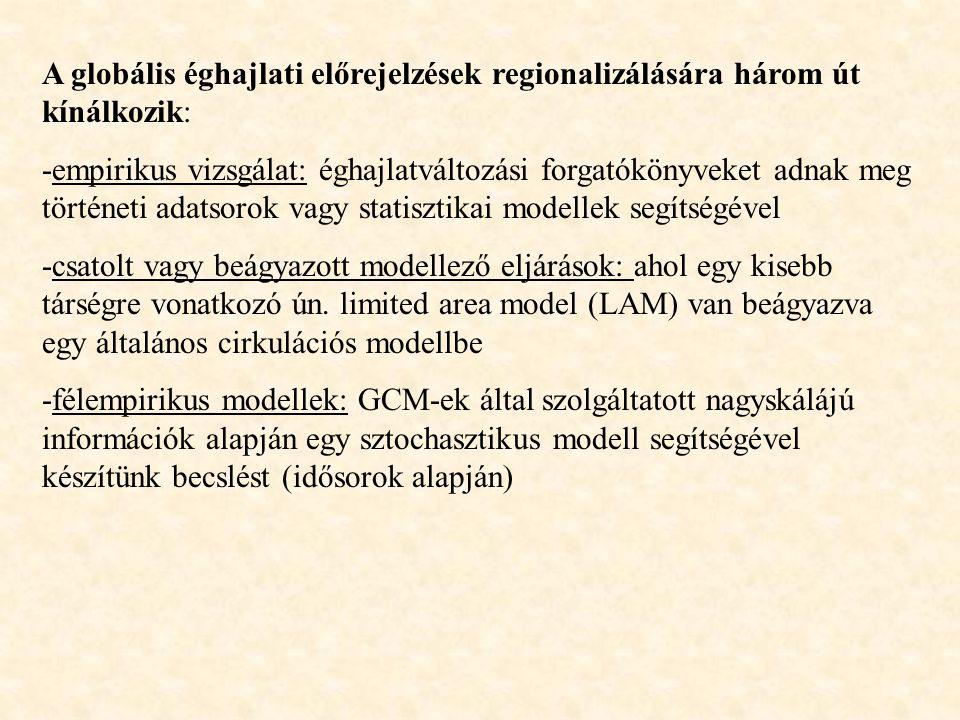 -Magyarországon a 80-as évektől tanulmányozzák a globális éghajlatváltozás lokális hatásait  forgatókönyvek -1992: Rio Konferencia: Éghajlatváltozási Keretegyezmény  magyaroszági stratégiák megállapítása  majd megvalósítás -1997: Kiotoi Konferencia: EU elvárásaihoz kapcsolódó klíma- stratégia