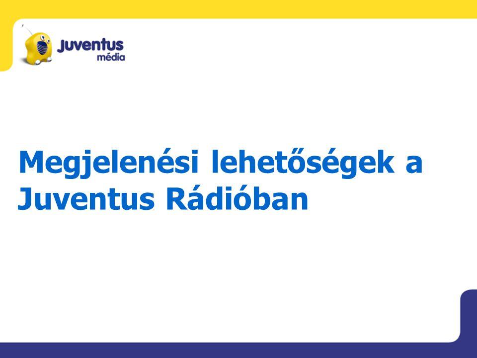 Juventus Rádió médiaterv 100 db megjelenés.