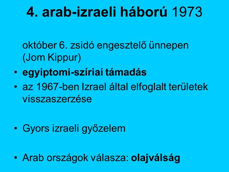 4.arab-izraeli háború 1973 október 6.