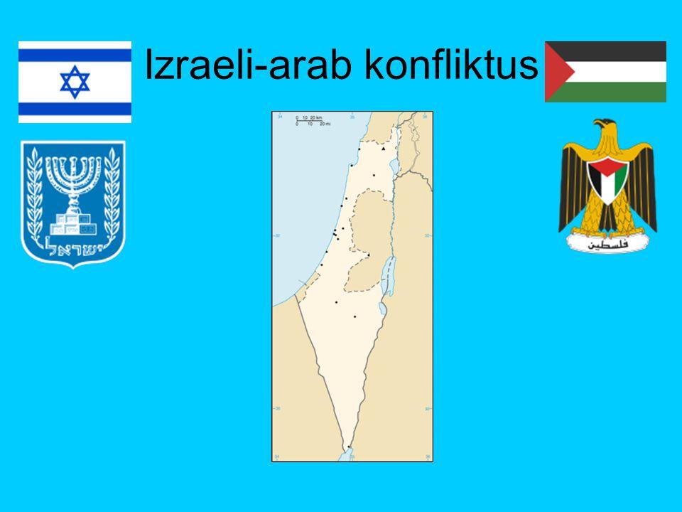 1940-es évek Angol mandátumterület (ígéret egy önálló zsidó és egy arab állam létrehozására, megosztás) 1939 Fehér Könyv (aliya =zsidó bevándorlás korlátozása) 1946 holokausztot túlélők tömeges bevándorlása 1947 GB az ENSZ-re ruházza a terület jövőjéről a döntést 1948 GB katonai jelenlétének felszámolása 1948.
