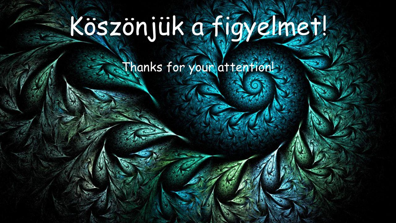 Köszönjük a figyelmet! Thanks for your attention!