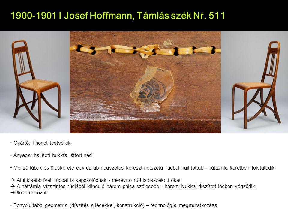 1900-1901 I Josef Hoffmann - Támlás szék Nr.511 1899.