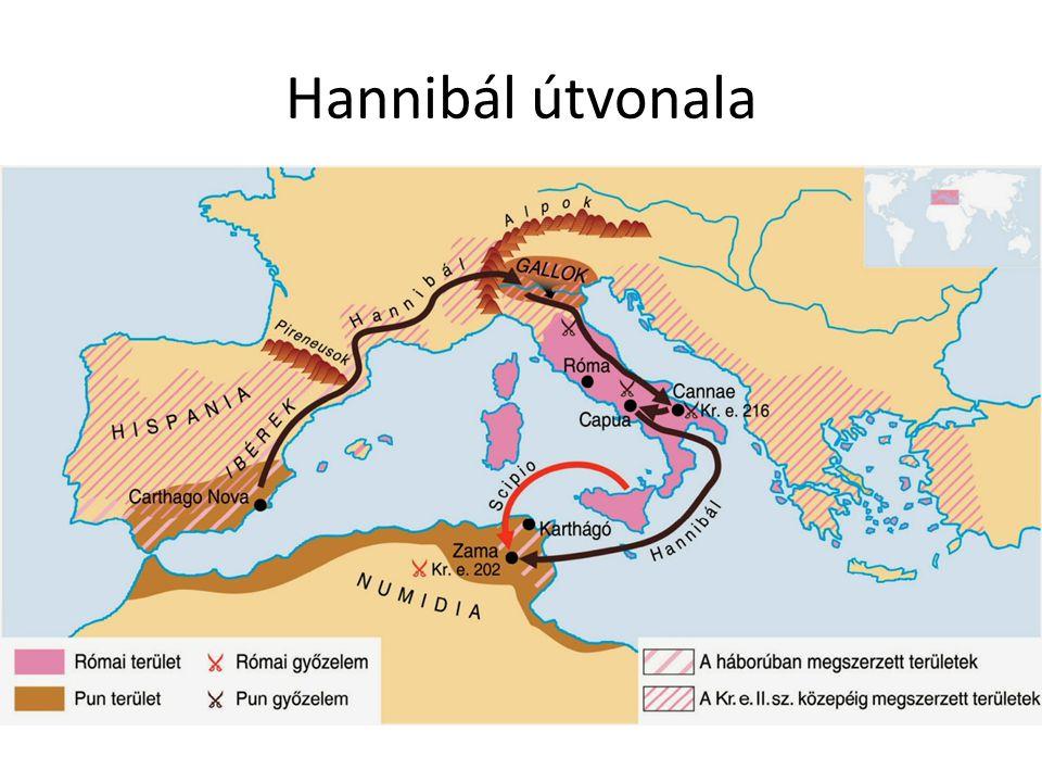 Hannibál útvonala