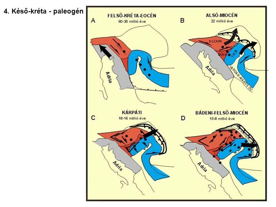 4. Késő-kréta - paleogén