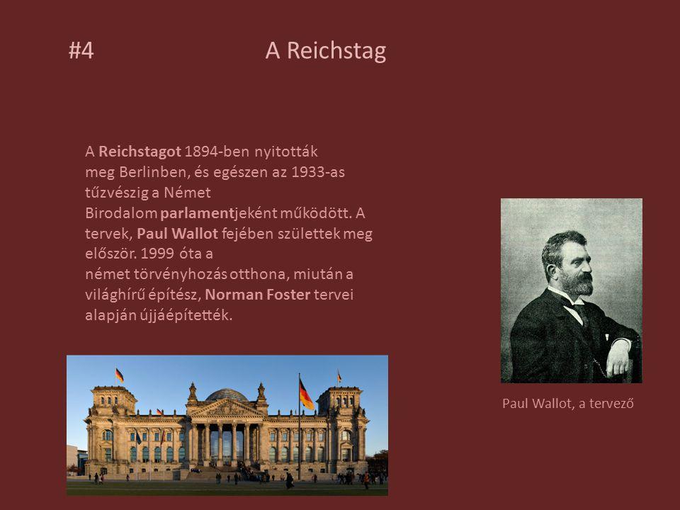 A Reichstagot 1894-ben nyitották meg Berlinben, és egészen az 1933-as tűzvészig a Német Birodalom parlamentjeként működött.