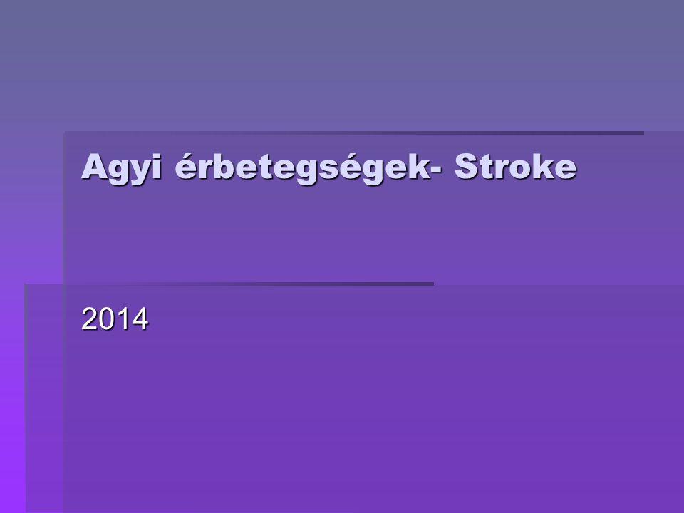 Agyi érbetegségek- Stroke 2014