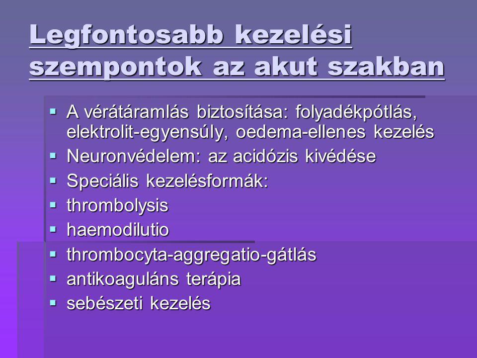 Kockázati tényezők ÉLETMÓDI KOCKÁZATI TÉNYEZŐK  Dohányzás  Alkohol  Fizikai aktivitás  Étrend  Stressz STROKE RIZIKÓBETEGSÉGEK  Hypertensio  AMI(akut miocardiális infarktus)  Pitvarfibrillatio  Diabetes mellitus  Metabolicus szindróma  Vérzsírok (cholesterin)  Tünetmentes carotis stenosis