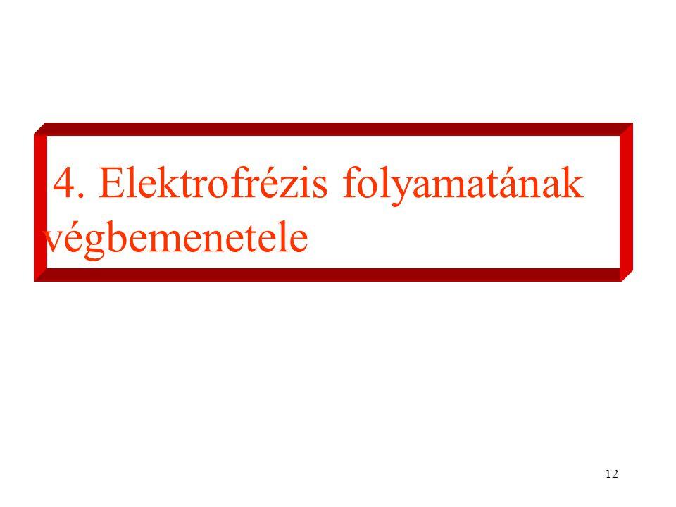 12 4. Elektrofrézis folyamatának végbemenetele