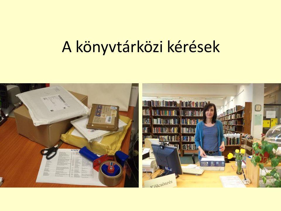 A könyvtárközi kérések