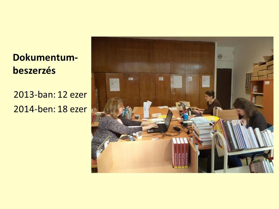 Dokumentum- beszerzés 2013-ban: 12 ezer 2014-ben: 18 ezer
