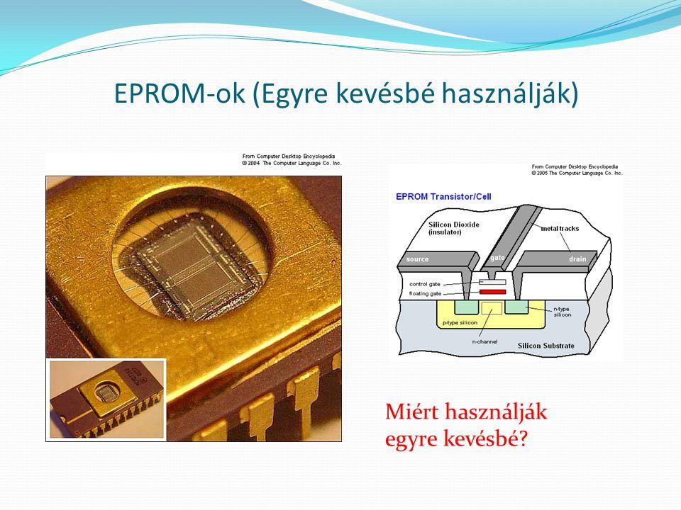 EPROM-ok (Egyre kevésbé használják) Miért használják egyre kevésbé?