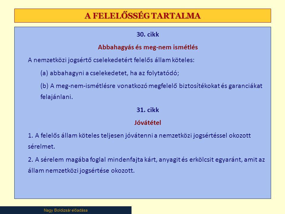 Nagy Boldizsár előadása A FELELŐSSÉG TARTALMA 30.