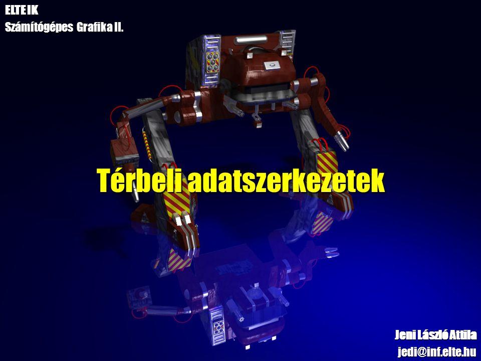 Térbeli adatszerkezetek Jeni László Attila jedi@inf.elte.hu ELTE IK Számítógépes Grafika II.