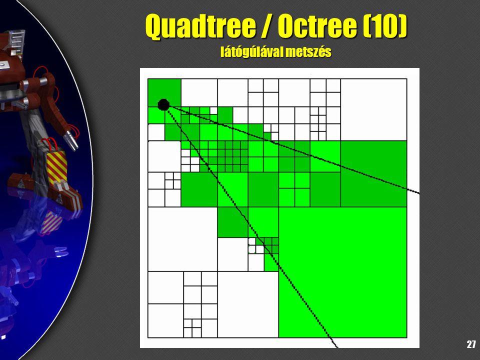 27 Quadtree / Octree (10) látógúlával metszés