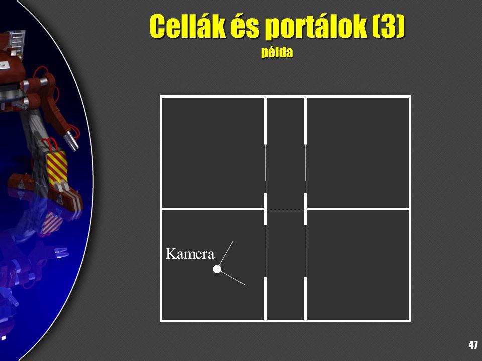 47 Cellák és portálok (3) példa Kamera