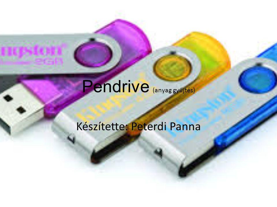 Pendrive (anyag gyűjtés) Készítette: Peterdi Panna