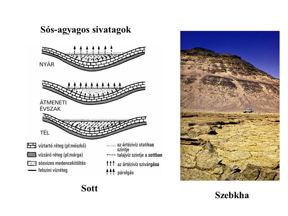 Sós-agyagos sivatagok Sott Szebkha