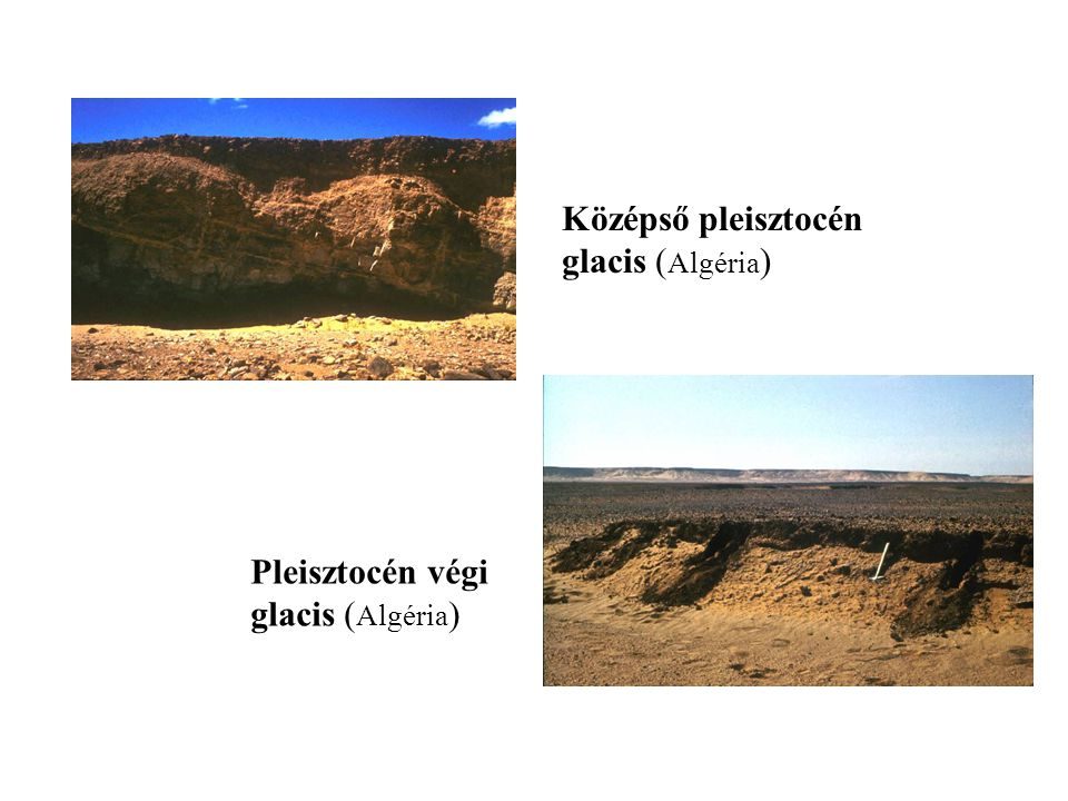 Középső pleisztocén glacis ( Algéria ) Pleisztocén végi glacis ( Algéria )