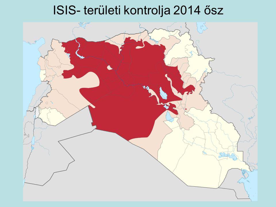 ISIS- területi kontrolja 2014 ősz