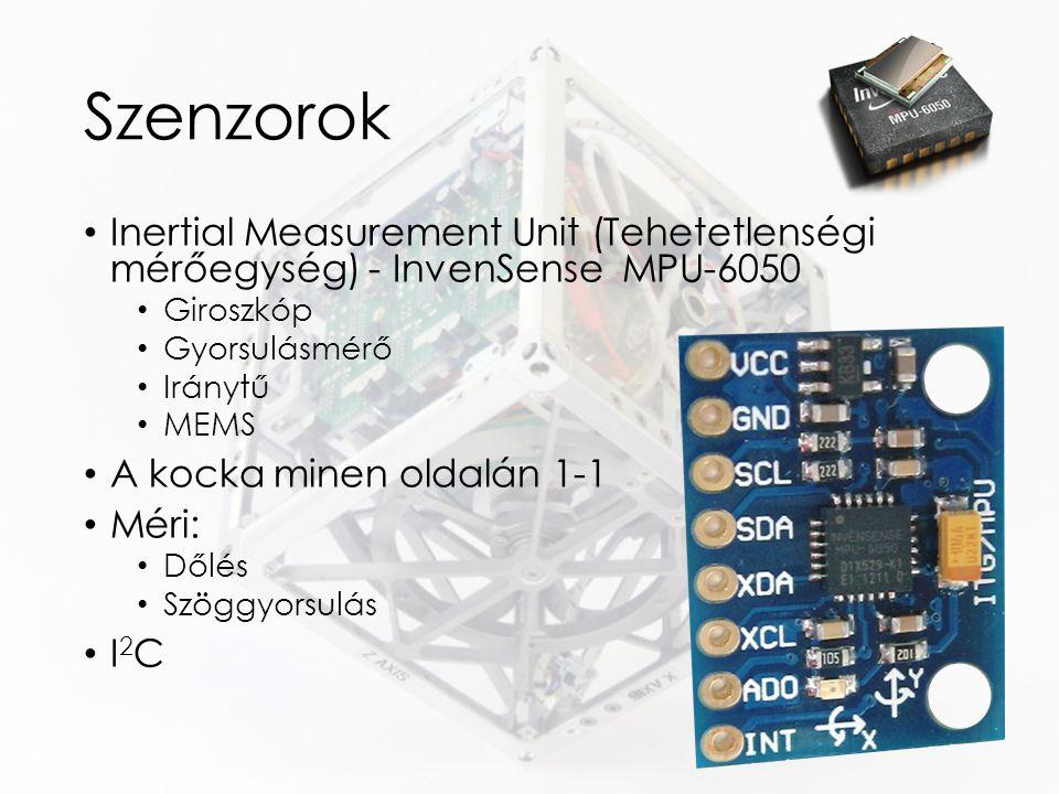 Szenzorok Inertial Measurement Unit (Tehetetlenségi mérőegység) - InvenSense MPU-6050 Giroszkóp Gyorsulásmérő Iránytű MEMS A kocka minen oldalán 1-1 M