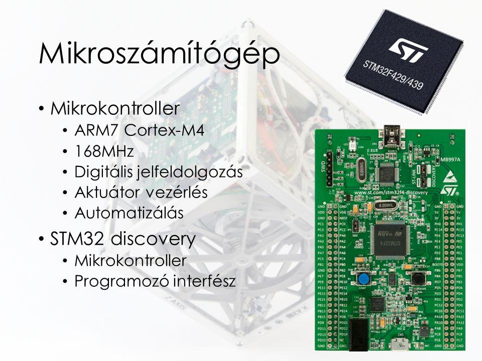 Mikroszámítógép Mikrokontroller ARM7 Cortex-M4 168MHz Digitális jelfeldolgozás Aktuátor vezérlés Automatizálás STM32 discovery Mikrokontroller Program
