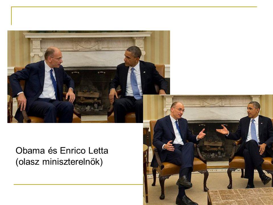 Obama és Enrico Letta (olasz miniszterelnök)