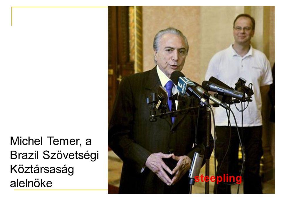 Michel Temer, a Brazil Szövetségi Köztársaság alelnöke steepling