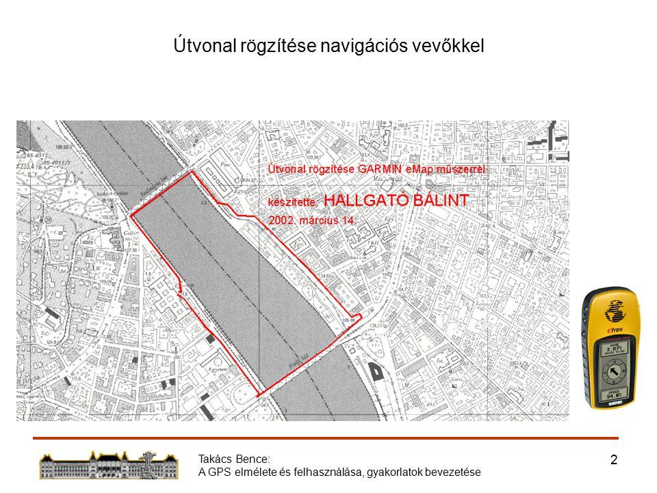 Takács Bence: A GPS elmélete és felhasználása, gyakorlatok bevezetése 2 Útvonal rögzítése navigációs vevőkkel