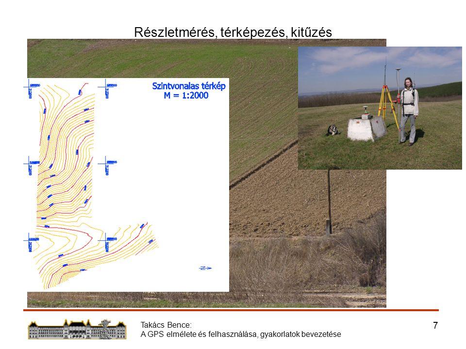 Takács Bence: A GPS elmélete és felhasználása, gyakorlatok bevezetése 7 Részletmérés, térképezés, kitűzés