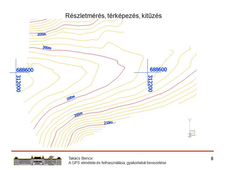 Takács Bence: A GPS elmélete és felhasználása, gyakorlatok bevezetése 9 Részletmérés, térképezés, kitűzés
