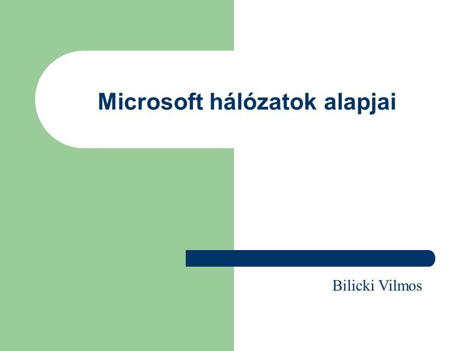 Tartalom Támogatott protokollok NWLINK NetBeui TCPIP NetBIOS DHCP Hasznos parancsok