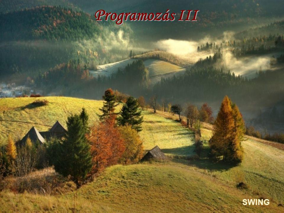 Programozás III SWING