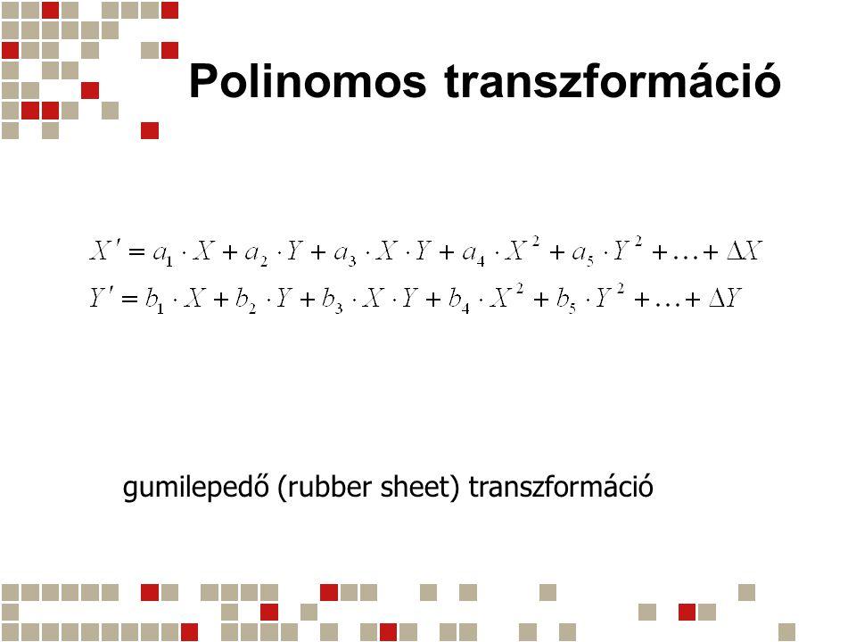 Polinomos transzformáció gumilepedő (rubber sheet) transzformáció