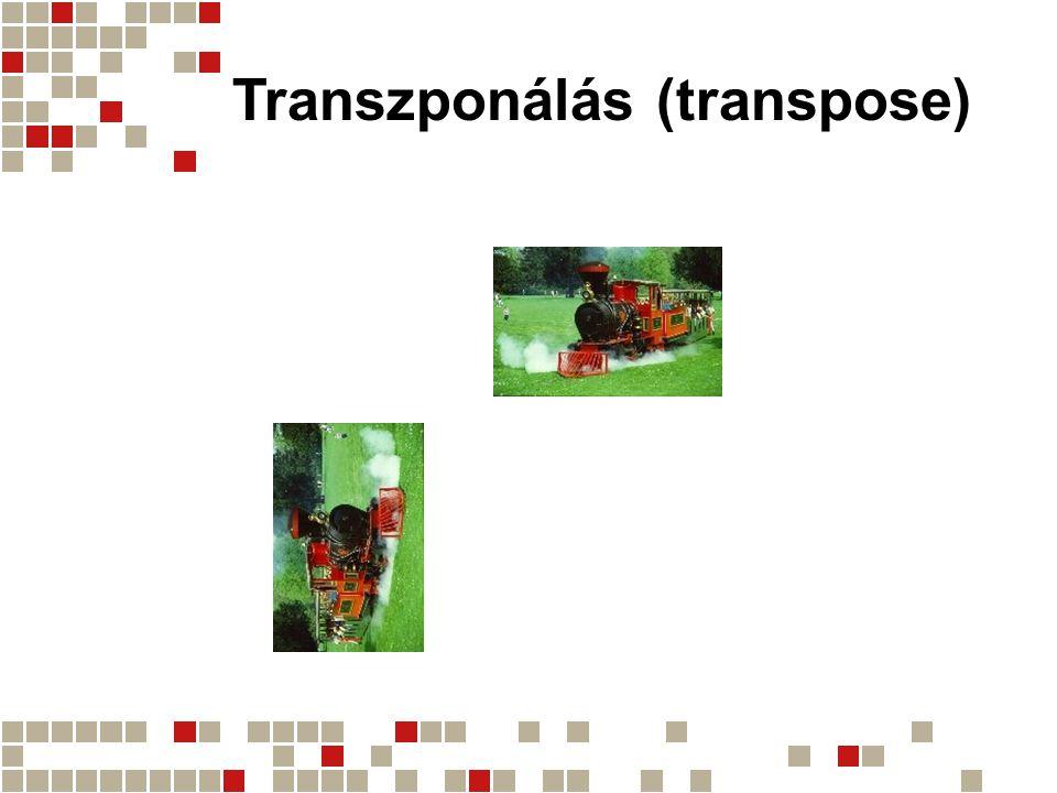 Transzponálás (transpose)