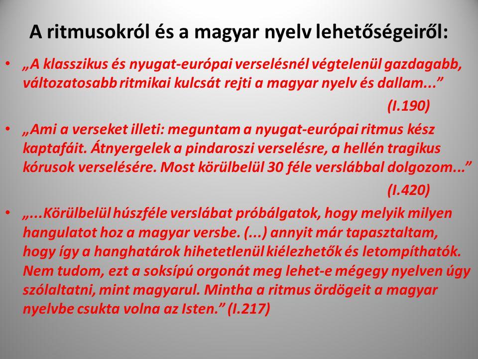 """A ritmusokról és a magyar nyelv lehetőségeiről: """"A klasszikus és nyugat-európai verselésnél végtelenül gazdagabb, változatosabb ritmikai kulcsát rejti"""