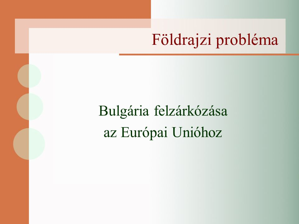 Vázlat Bevezetés (dátumok) Gazdasági áttekintés Demográfiai, társadalmi áttekintés A bővítés hatásai A csatlakozás utáni kihívások Konklúzió Bibliográfia