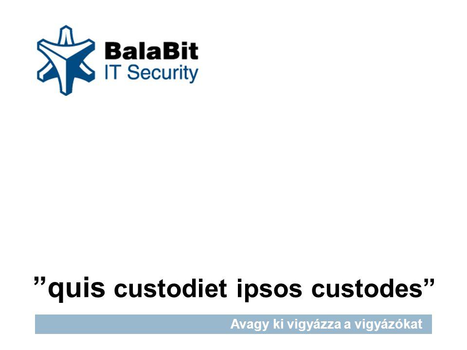 Corporate presentation quis custodiet ipsos custodes Avagy ki vigyázza a vigyázókat