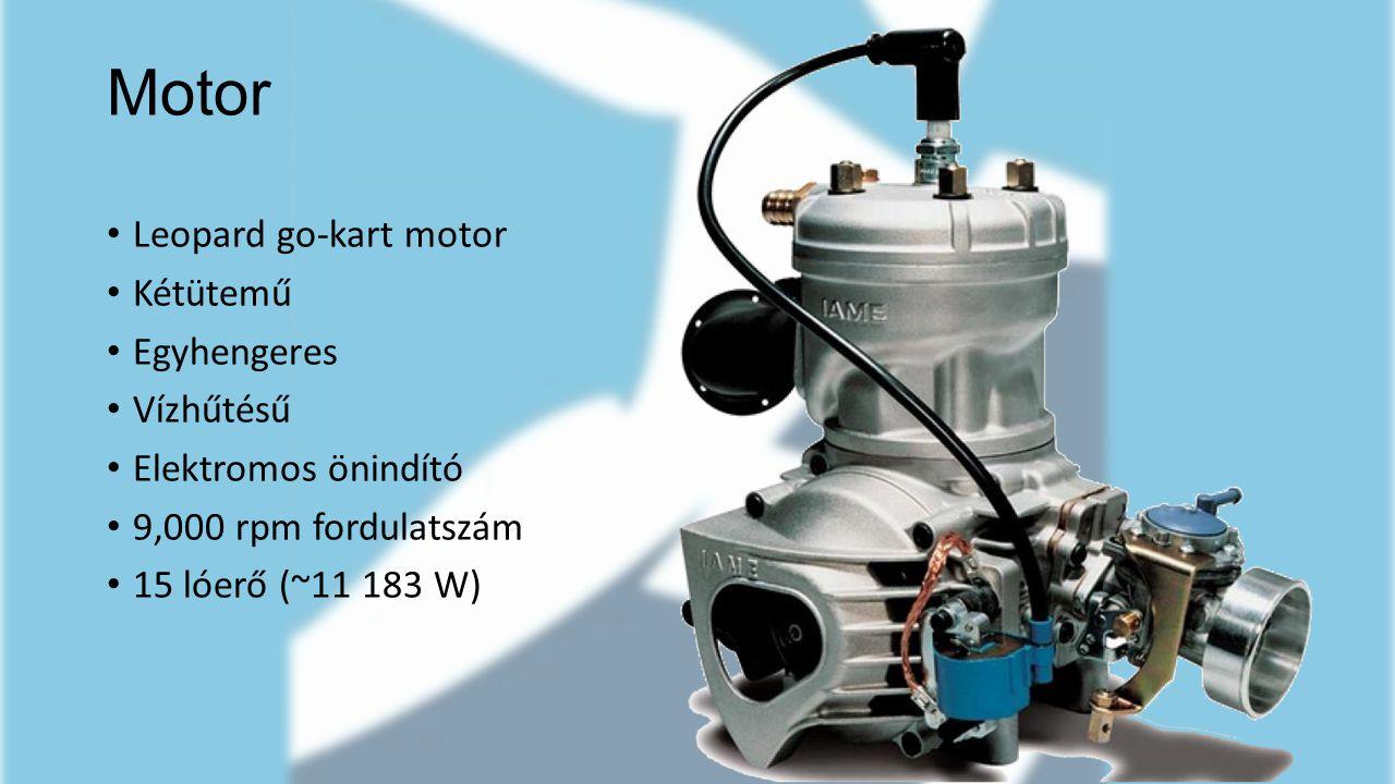 Motor Leopard go-kart motor Kétütemű Egyhengeres Vízhűtésű Elektromos önindító 9,000 rpm fordulatszám 15 lóerő (~11 183 W)