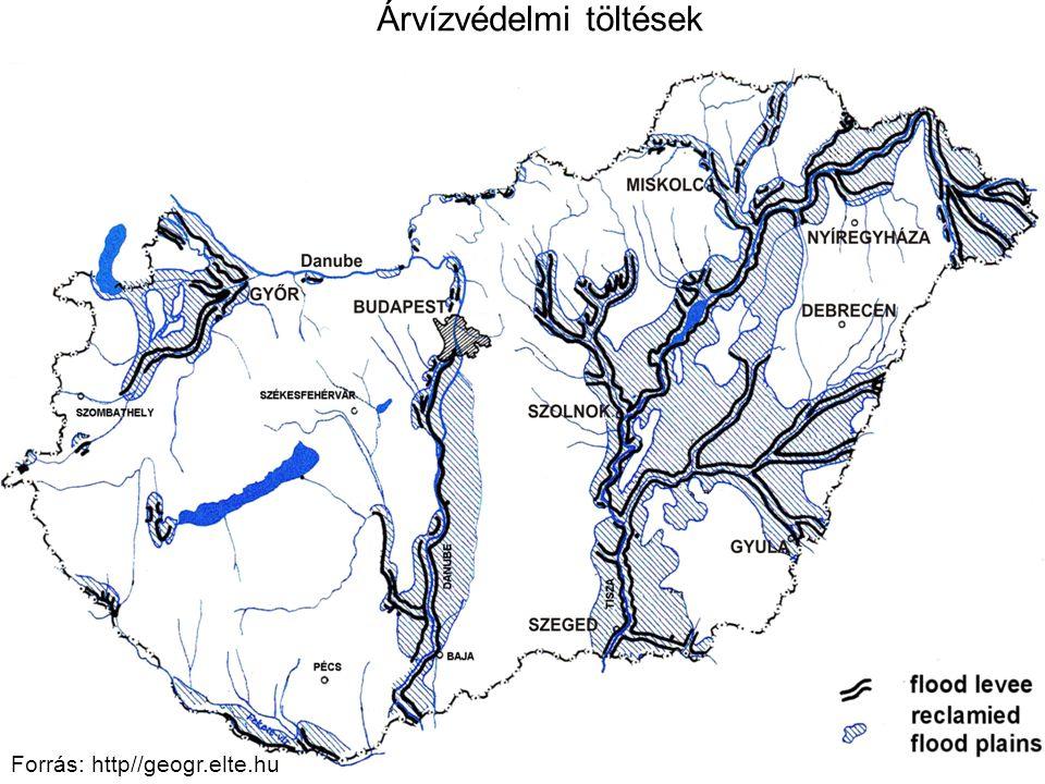13 Forrás: http//geogr.elte.hu Árvízvédelmi töltések