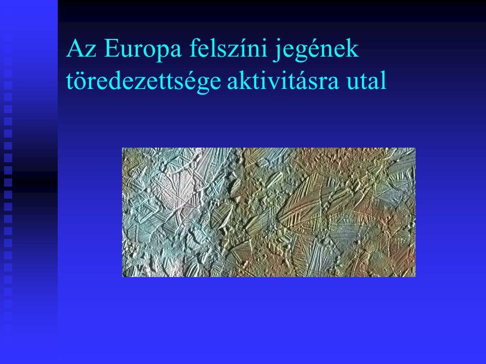 Az Europa felszíni jegének töredezettsége aktivitásra utal